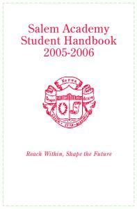 Salem Academy Student Handbook