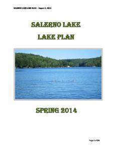 SALERNO LAKE LAKE PLAN