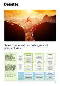 Sales compensation challenges and points of view