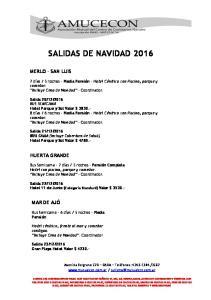 SALIDAS DE NAVIDAD 2016