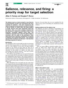 Salience, relevance, and firing: a priority map for target selection