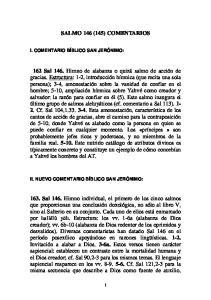 SALMO 146 (145) COMENTARIOS