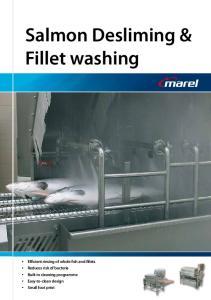 Salmon Desliming & Fillet washing