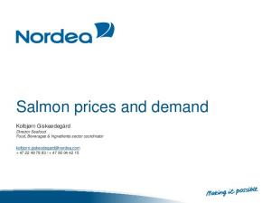 Salmon prices and demand