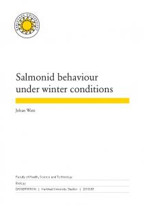 Salmonid behaviour under winter conditions
