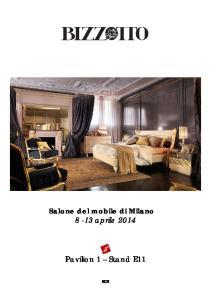 Salone del mobile di Milano 8-13 aprile Pavilion 1 Stand E11 RU2