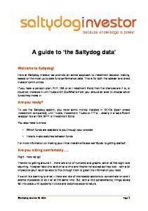 saltydoginvestor A guide to the Saltydog data