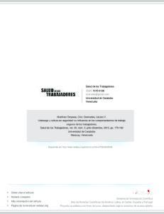Salud de los Trabajadores ISSN: Universidad de Carabobo Venezuela