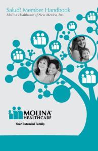 Salud! Member Handbook. Molina Healthcare of New Mexico, Inc