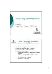 Salud y Seguridad Ocupacional
