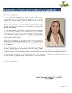 SALUDO SRA. ALCALDESA COMUNA DE COELEMU