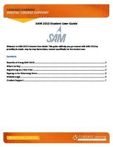 SAM 2010 Student User Guide