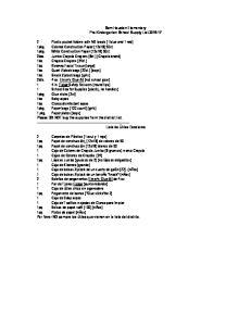 Sam Houston Elementary Pre-Kindergarten School Supply List
