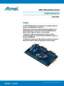 SAM4N Xplained Pro. Preface. SMART ARM-based Microcontrollers USER GUIDE