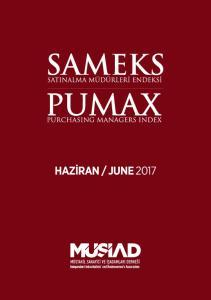 SAMEKS PUMAX 2017 yılı Haziran ayında mevsim ve takvim etkisinden arındırılmış SAMEKS Bileşik En- deksi, bir önceki aya göre 1,0 puan azalarak