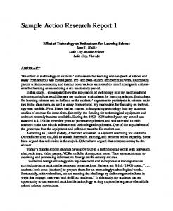 Sample Action Research Report 1