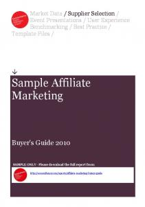 Sample Affiliate Marketing