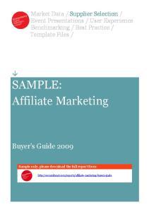 SAMPLE: Affiliate Marketing