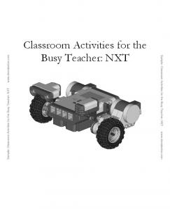 Sample: Classroom Activities for the Busy Teacher: NXT  Classroom Activities for the Busy Teacher: NXT
