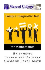 Sample Diagnostic Test