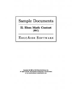 Sample Documents. IL Elem Math Contest (IEC)