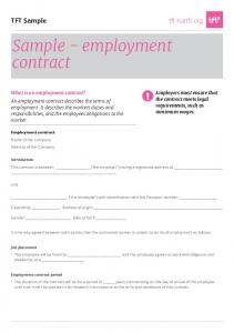 Sample - employment contract
