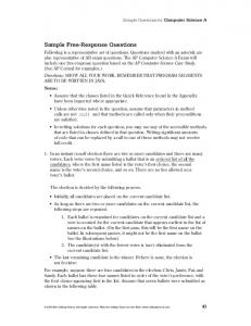 Sample Free-Response Questions