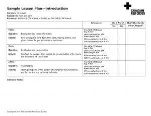 Sample Lesson Plan Introduction