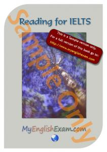 Sample Only. Reading for IELTS. MyEnglishExam.com. This is a Sample version only. For a full version of this book go to: