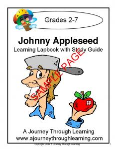 SAMPLE PAGE. Johnny Appleseed. Grades 2-7. Learning Lapbook with Study Guide. A Journey Through Learning
