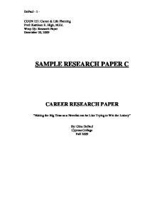 SAMPLE RESEARCH PAPER C