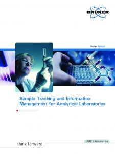 Sample Tracking and Information Management for Analytical Laboratories