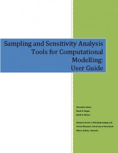Sampling and Sensitivity Analysis Tools for Computational Modelling: User Guide