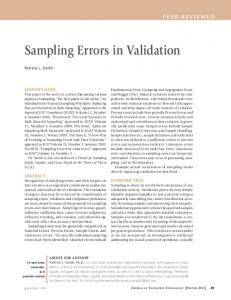 Sampling Errors in Validation