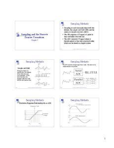 Sampling Methods. Sampling and the Discrete Fourier Transform Chapter 7. Sampling Methods. Sampling Methods. Sampling Methods