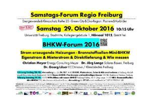 Samstags-Forum Regio Freiburg Startveranstaltung
