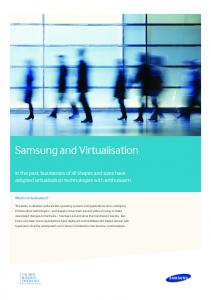 Samsung and Virtualisation