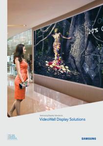 Samsung Display Solutions VideoWall Display Solutions