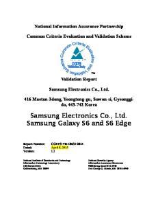 Samsung Electronics Co., Ltd. Samsung Galaxy S6 and S6 Edge