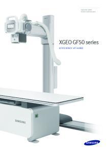 SAMSUNG SMART DIGITAL RADIOGRAPHY. XGEO GF50 series