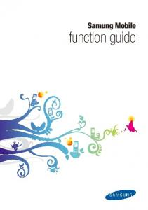 Samung Mobile. function guide