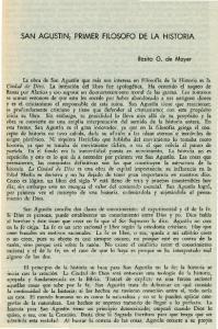 SAN AGUSTIN PRIMER FILOSOFO DE LA HISTORIA