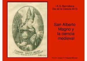 San Alberto Magno y la ciencia medieval