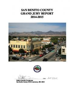 SAN BENITO COUNTY GRAND JURY REPORT