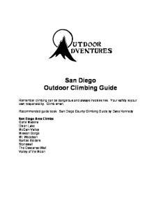 San Diego Outdoor Climbing Guide