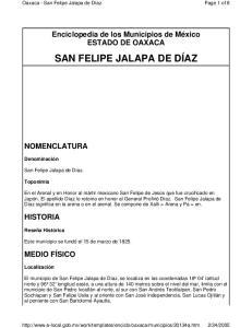 SAN FELIPE JALAPA DE DÍAZ
