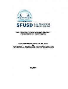 SAN FRANCISCO UNIFIED SCHOOL DISTRICT PROPOSITION A 2011 BOND PROGRAM
