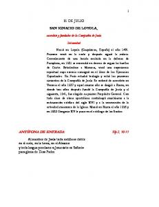 SAN IGNACIO DE LOYOLA,