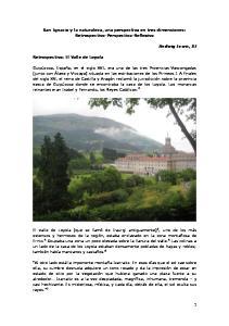 San Ignacio y la naturaleza, una perspectiva en tres dimensiones: Retrospectiva-Perspectiva-Reflexiva