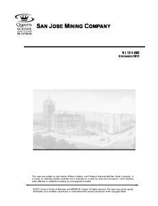 SAN JOSE MINING COMPANY